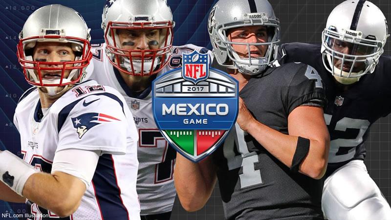 Patriotas vs Raiders, NFL México 2017   Resultado: 33-8 - patriotas-vs-raiders-nfl-en-mexico-2017-800x450
