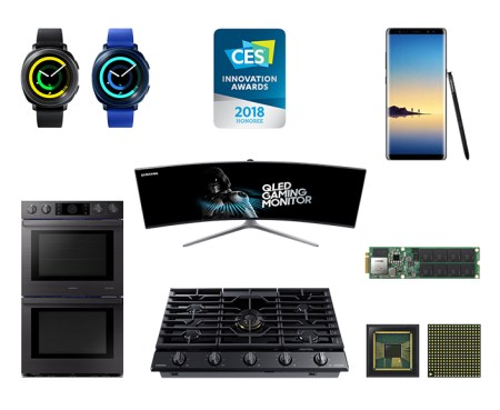 Samsung es galardonado con 36 Premios de Innovación CES 2018