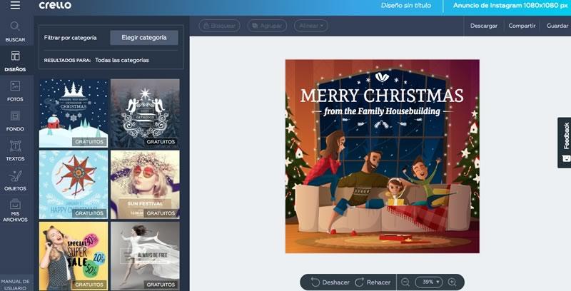 Tarjetas de navidad 2018 para imprimir o enviar por redes sociales - crear-tarjetas-de-navidad-redes-sociales-800x408