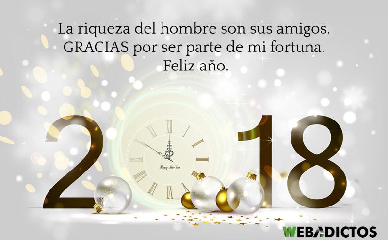 Frases De Ano Nuevo 2018 Para Amigos Chistosas Y De Amor Feliz Ano