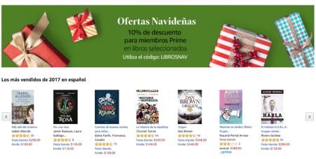Los libros más vendidos del 2017 en Amazón México
