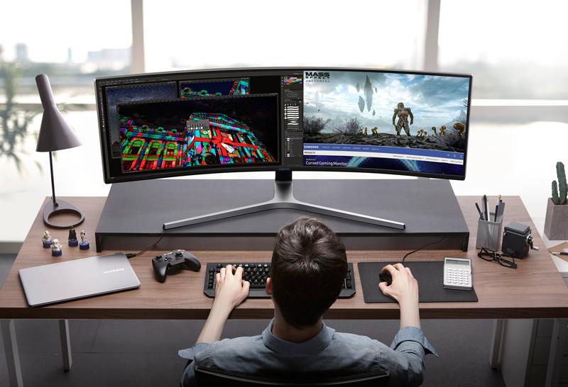 Nuevo monitor curvo HDR QLED mejora la experiencia de jugar videojuegos - monitor-curvo-samsung-chg90-800x546