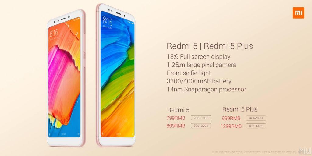 Los nuevos Xiaomi Redmi 5 ofrecen diseño todo pantalla sin quebrar tu bolsillo - redmi5family-price