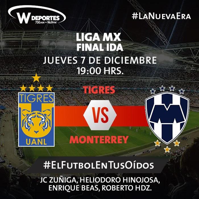 tigres vs monterrey por radio final apertura 2017 Tigres vs Monterrey, Ida de la Final Apertura 2017 | Resultado: 1 1