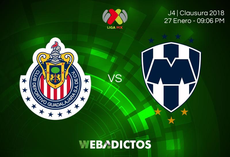 Chivas vs Monterrey, Jornada 4 del Clausura 2018   Resultado: 1-2 - chivas-vs-monterrey-clausura-2018-j4-800x547