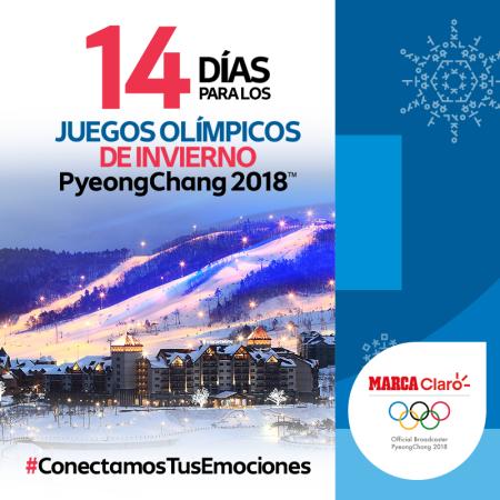 Claro Sports realizará cobertura de los Juegos Olímpicos PyeongChang 2018