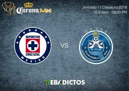Cruz Azul vs Puebla, J2 de Copa MX Clausura 2018 ¡En vivo por internet!
