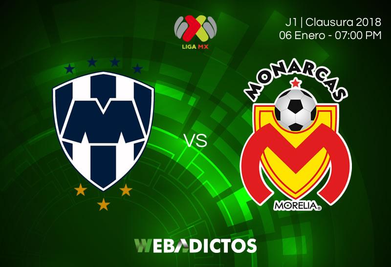 Monterrey vs Morelia, J1 de la Liga MX C2018 | Resultado: 1-1 - monterrey-vs-morelia-jornada-1-clausura-2018-800x547