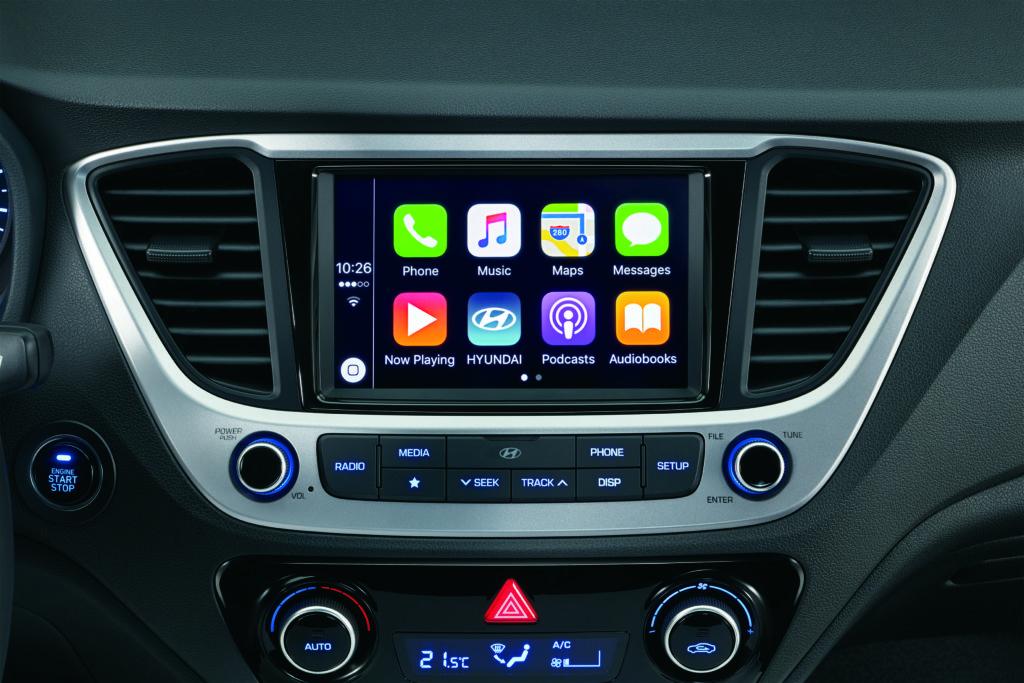 pantalla carplay Hyundai Accent demuestra que los autos del segmento B pueden tener un diseño genial