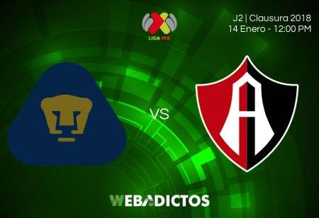 Pumas vs Atlas, Jornada 2 del Clausura 2018 | Resultado: 3-1
