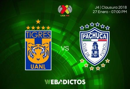 Tigres vs Pachuca, Jornada 4 Clausura 2018 | Resultado: 3-2
