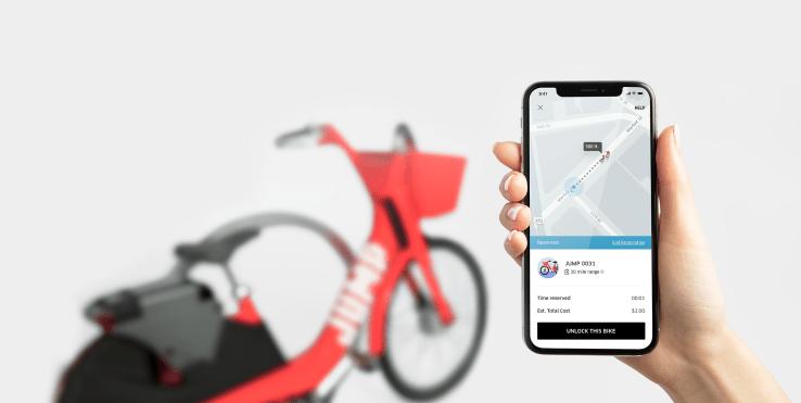 Alquilar bicicletas a través de Uber