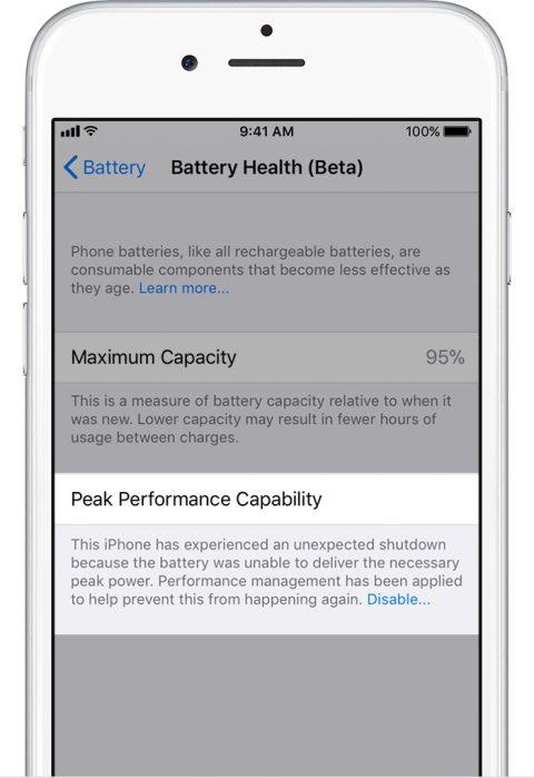 Este es el nuevo monitor de energía en los iPhone, que llega con la segunda beta de iOS 11.3 - baterry-low-damage