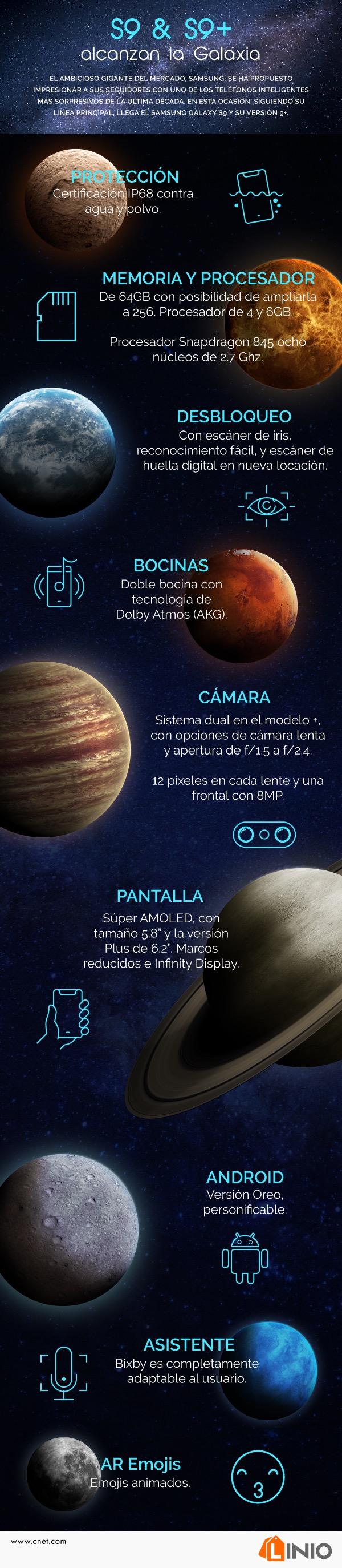 [Infografía] Características del nuevo Samsung Galaxy S9 y S9+ - galaxys9_infografia
