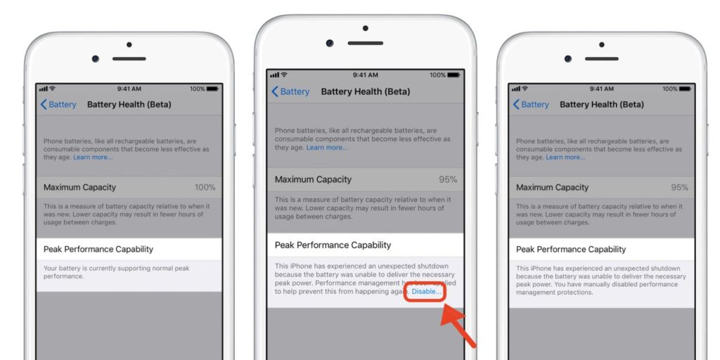 Este es el nuevo monitor de energía en los iPhone, que llega con la segunda beta de iOS 11.3 - iphone-battery-health-ios-11-3