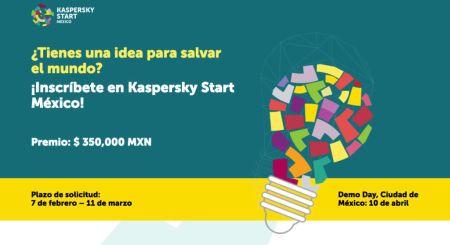 Convocatoria para participar en el concurso Kaspersky Start México