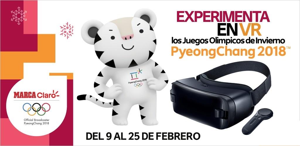Olímpicos de invierno 2018 se podrán ver en Realidad Virtual ¡gratis! por Claro Sports - marcaclarovr