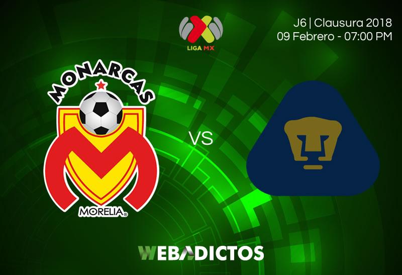 morelia vs pumas clausura 2018 j6 Morelia vs Pumas, Jornada 6 Liga MX C2018 | Resultado: 1 2