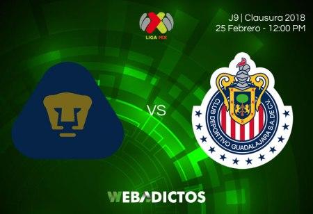 Ver a Pumas vs Chivas este 25 de febrero; J8 Clausura 2018