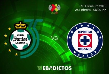 Transmisión de Santos vs Cruz Azul en la J9 Clausura 2018