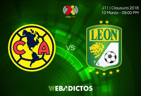 América vs León, Jornada 11 del Clausura 2018 ¡En vivo por internet!