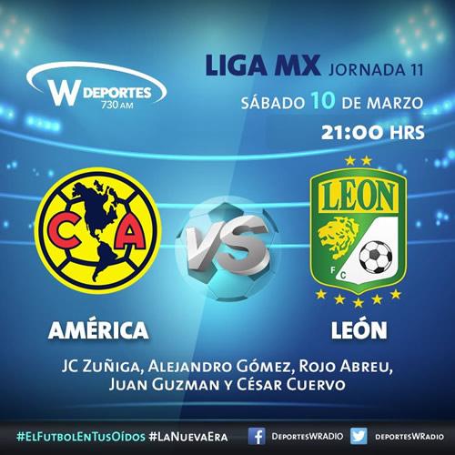 América vs León, Jornada 11 del Clausura 2018 ¡En vivo por internet! - america-vs-leon-por-radio-clausura-2018