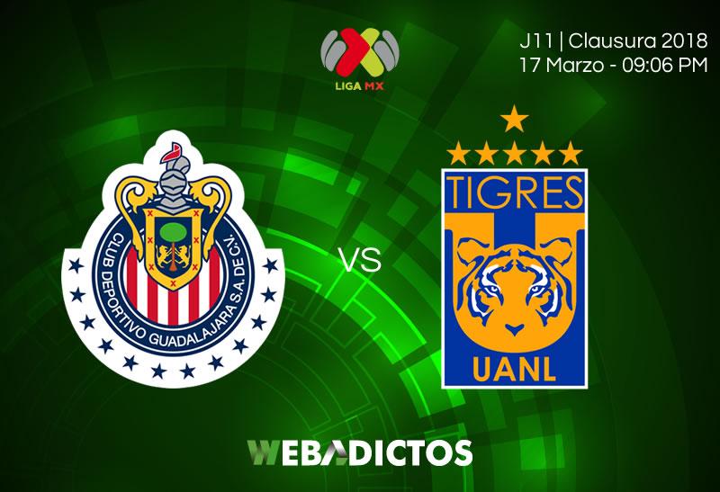 Chivas vs Tigres: Cómo ver el partido este 17 de marzo; J12 C2018 - chivas-vs-tigres-clausura-2018-jornada-12