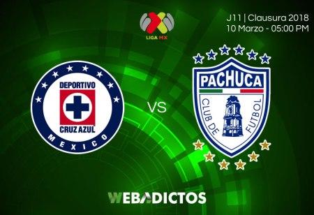 Cruz Azul vs Pachuca, Jornada 11 del C2018 ¡En vivo por internet!