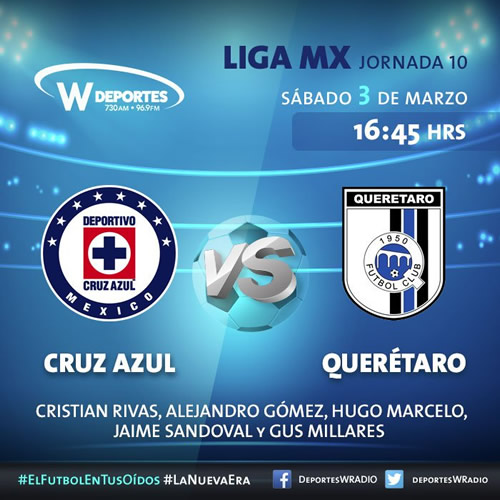 Cruz Azul vs Querétaro: Cómo verlo por internet | Liga MX J10 C2018 - cruz-azul-vs-queretaro-por-radio-clausura-2018