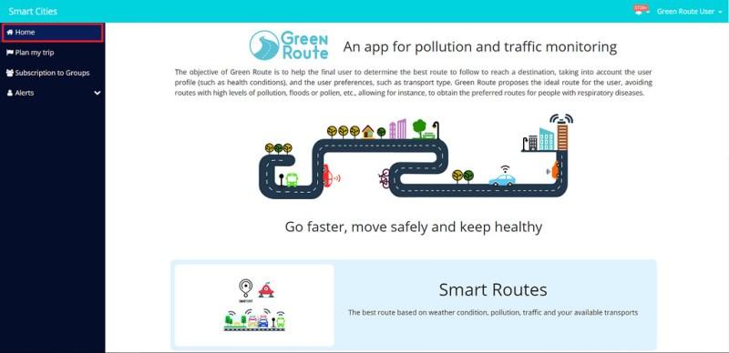 green route 800x388 Crean app de rutas verdes para ciudades