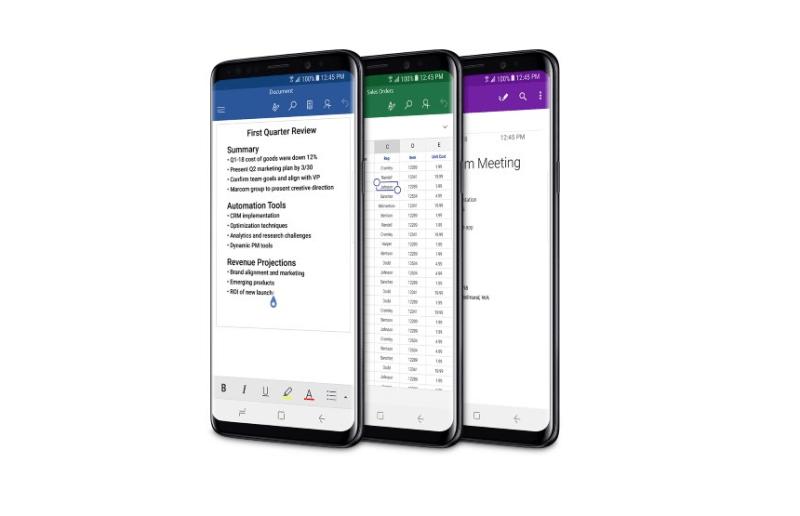 Microsoft venderá a los Samsung Galaxy S9 en sus tiendas de Estados Unidos - microsoft-office-mobile-s9