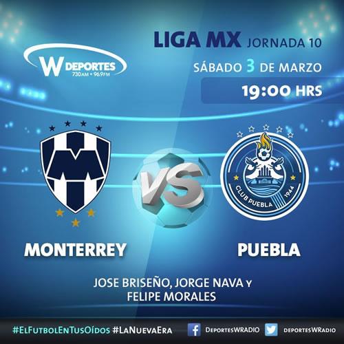 Monterrey vs Puebla, Jornada 10 C2018 ¡En vivo por internet! - monterrey-vs-puebla-por-radio-j10-clausura-2018