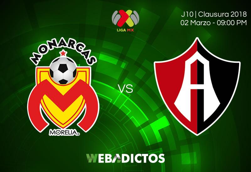 Morelia vs Atlas, Jornada 10 del Clausura 2018 ¡En vivo por internet! - morelia-vs-atlas-clausura-2018-j10