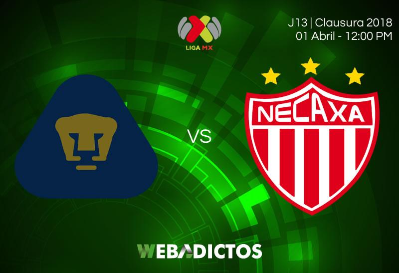 Pumas vs Necaxa, J13 del Clausura 2018 ¡En vivo por TDN! - pumas-vs-necaxa-clausura-2018-jornada-13