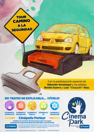 """""""Tour Camino a la seguridad"""", campaña de conducta vial es presentado por Quálitas, Universum y Cinema Park"""