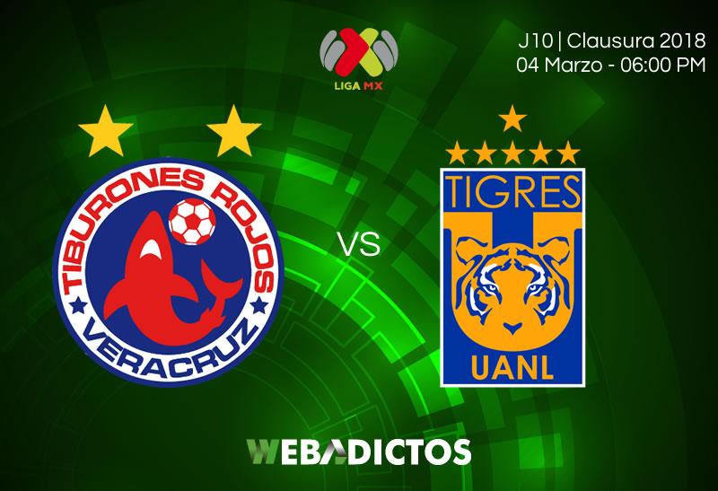 Veracruz vs Tigres, Fecha 10 del Clausura 2018 ¡En vivo por internet! - veracruz-vs-tigres-clausura-2018-j10