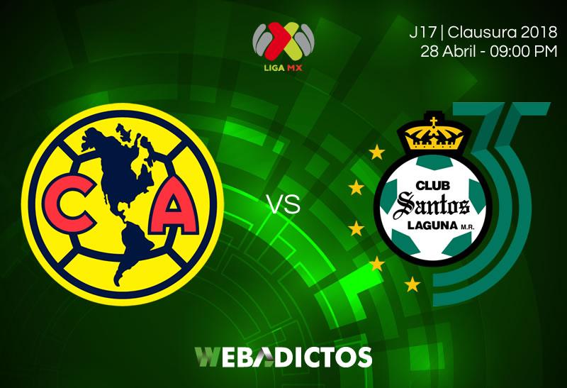 América vs Santos, J17 del Clausura 2018 ¡En vivo por internet! - america-vs-santos-clausura-2018