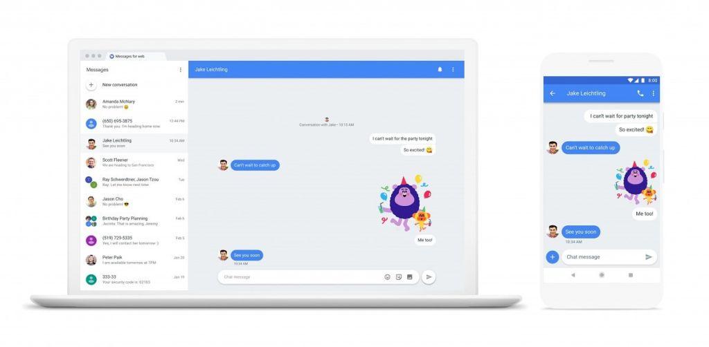 Chat será la nueva apuesta de Google para competir contra las aplicaciones de mensajería instantánea - android-messages-for-web