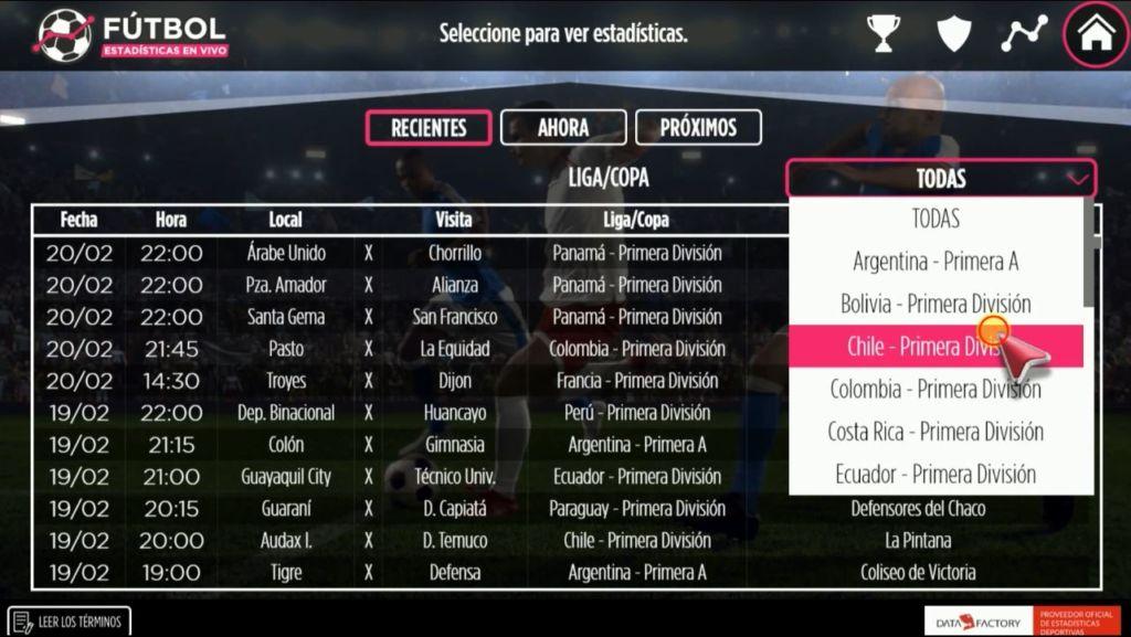 aplicacion exclusiva futbol estadisticas en vivo LG presenta nueva aplicación: Fútbol estadísticas en vivo