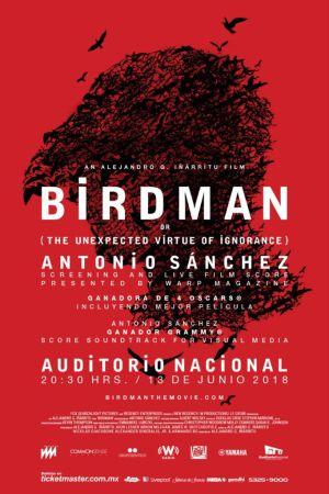 Birdman musicalizada en vivo en el Auditorio CDMX