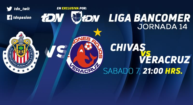 Chivas vs Veracruz en la J14 del Clausura 2018 ¡En vivo por internet! - chivas-vs-veracruz-tdn-clausura-2018