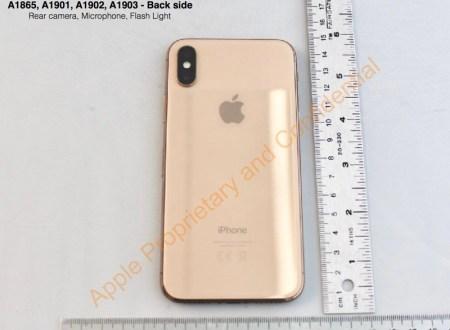 Un iPhone X en color oro se aparece en documentación de la FCC