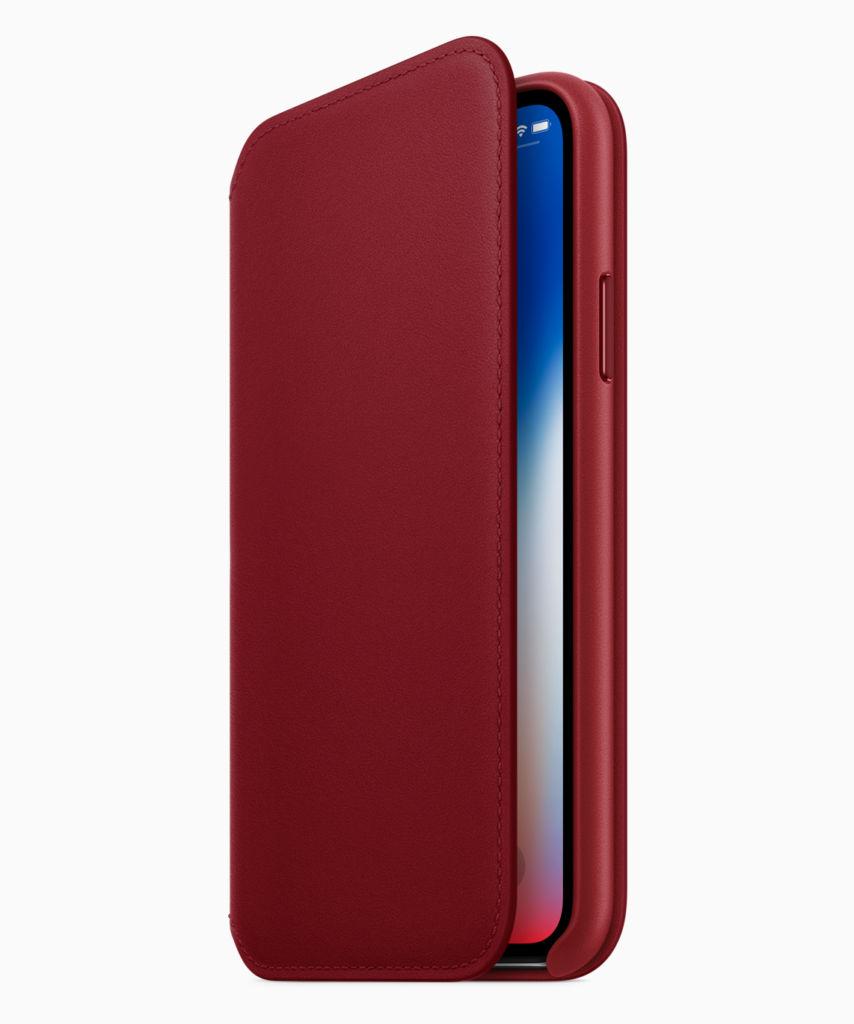 Los iPhone 8 y 8 Plus se visten de rojo en su nueva edición (PRODUCT) RED - iphone-x-red-folio
