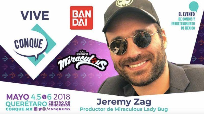 Jeremy Zag, creador de Miraculous Ladybug en CONQUE 2018 - jeremy-zag-800x447