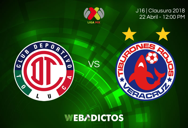 Toluca vs Veracruz, Jornada 16 del Clausura 2018 ¡En vivo por internet! - toluca-vs-veracruz-clausura-2018