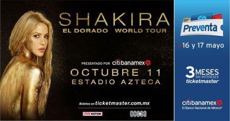 ¡Shakira vuelve a México! La cantante anuncia 'El Dorado Tour' por Latinoámerica