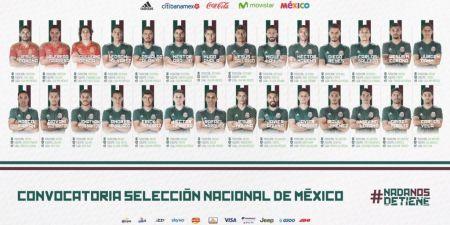 Conoce la lista preliminar de convocados a la Selección Mexicana para Rusia 2018