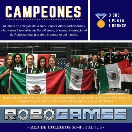 Jóvenes mexicanos ganan 5 medallas en la competencia de robótica más importante del mundo