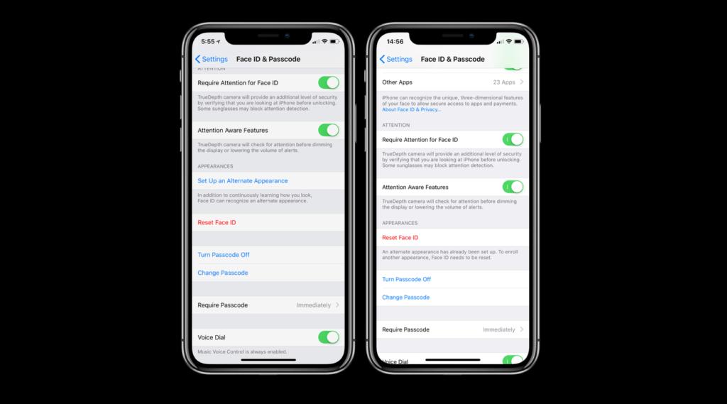 iOS 12: Face ID del iPhone X podrá almacenar hasta dos caras diferentes - appearence-face-id-ios-12