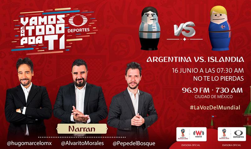 Argentina vs Islandia, Mundial Rusia 2018 ¡En vivo por internet! | Grupo D - argentina-vs-islandia-por-radio-mundial-2018